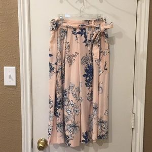 Below the knee floral skirt